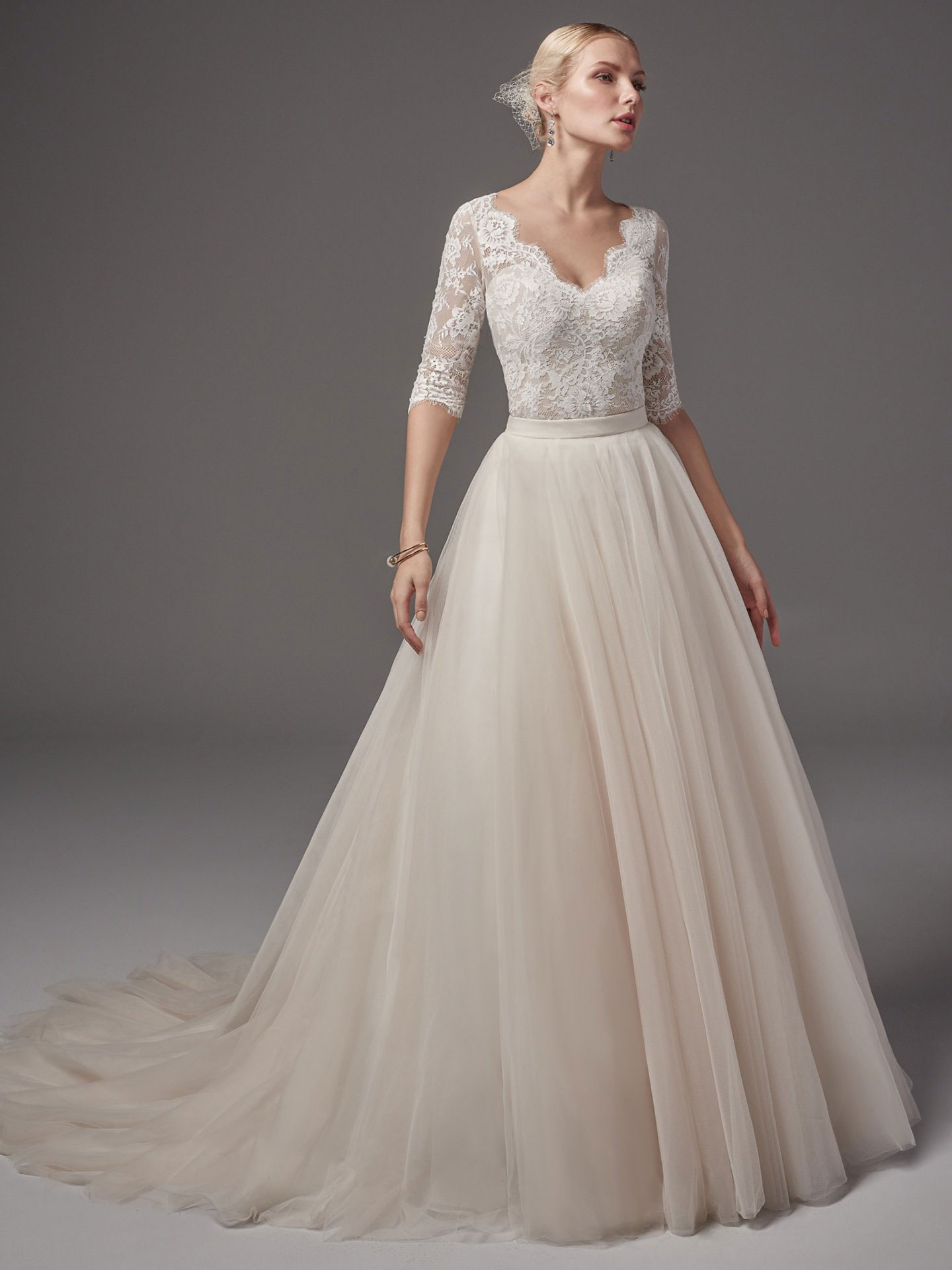 Sottero &#038; Midgley <br> Kensington &#038; Kallin skirt
